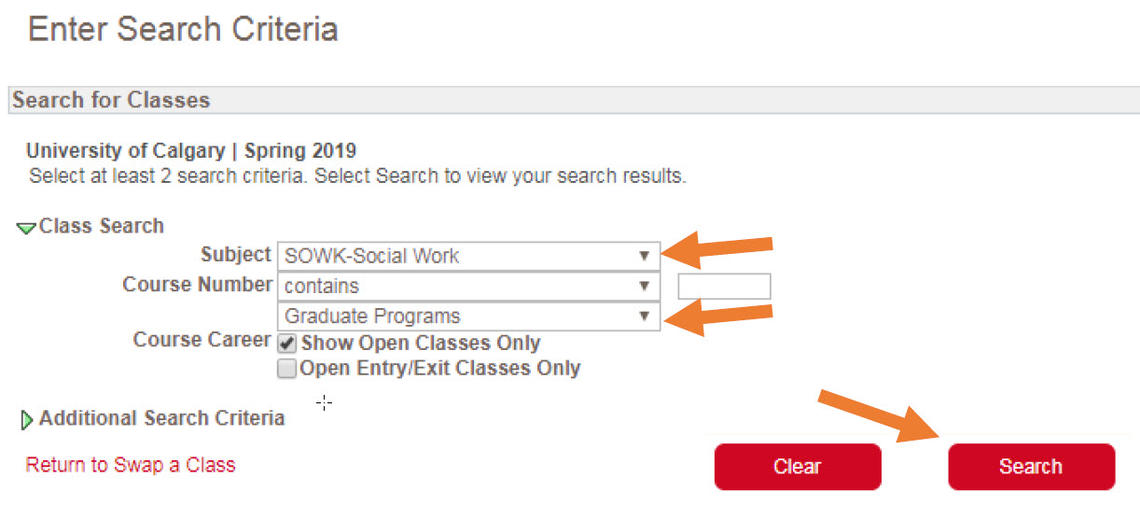 enter search criteria